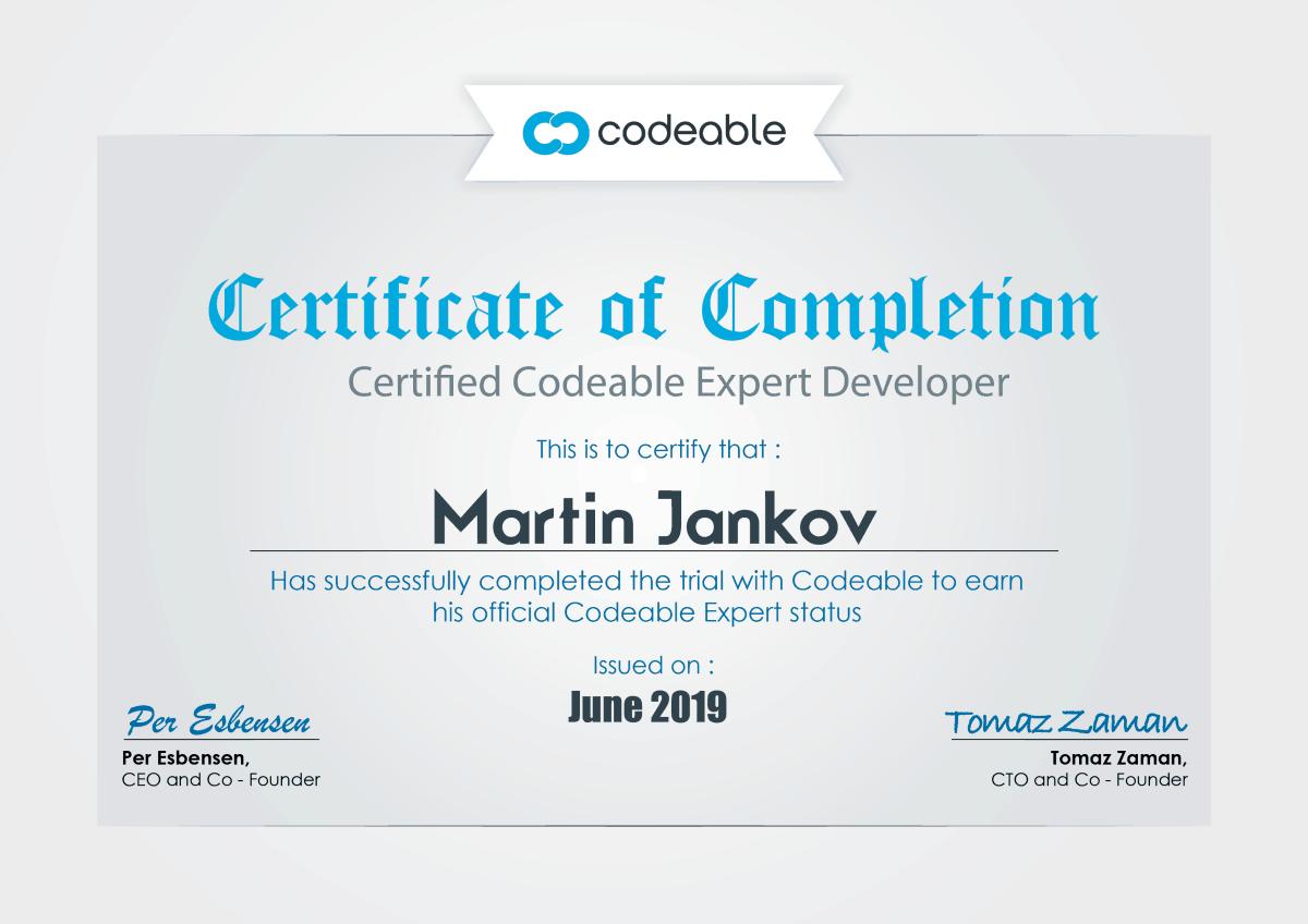 certificate martin jankov